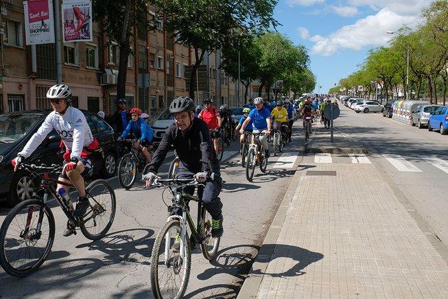 Imagen de la 3a Passejada en bicicleta de Sant Boi en mayo de este año