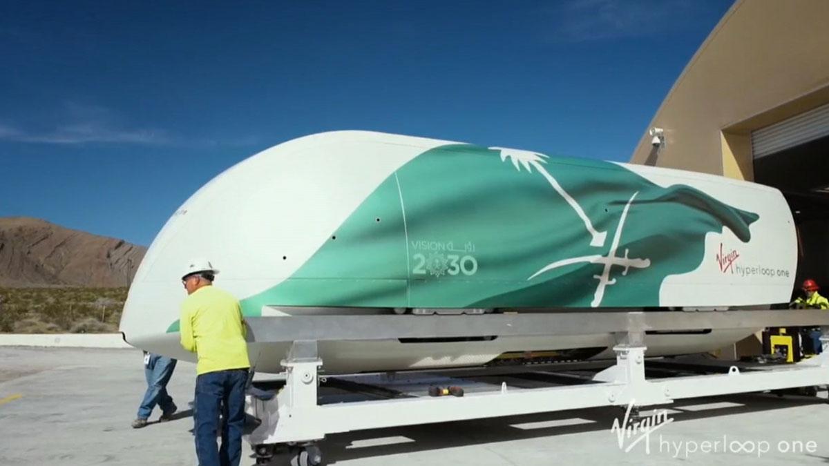 Imágenes del tren Hyperloop de Virgin.