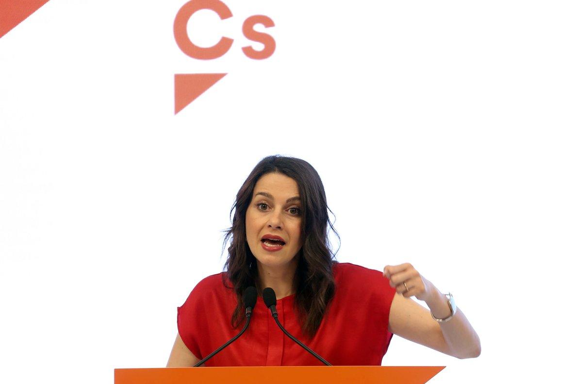 Inés Arrimadas, portavoz parlamentaria de Ciudadanos.