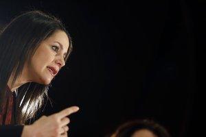 Inés Arrimadas, hoy presidenta de Ciudadanos,durante su intervención en el encuentro 'Mujeres liberales', en Málaga, el pasado 6 de marzo.