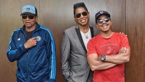 The Jacksons, este sábado antes de su concierto en el Festival de Pedralbes.