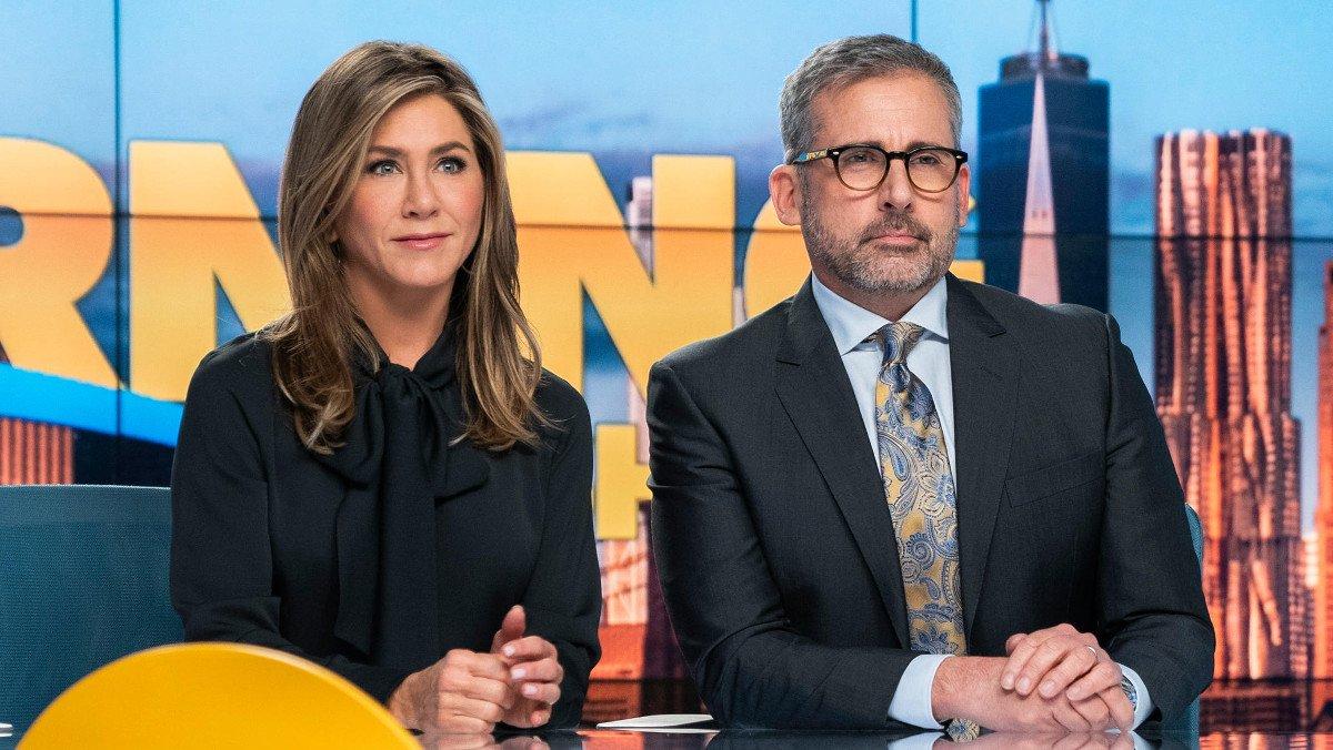 Jennifer Aniston y Steve Carell, en 'The morning show'.
