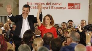 Pedro Sánchez y Meritxell Batet.