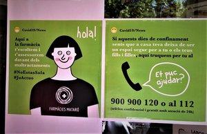 Las farmacias de Mataró se han constituido como establecimientos seguros durante el confinamiento para las mujeres que sufran violencia machista.