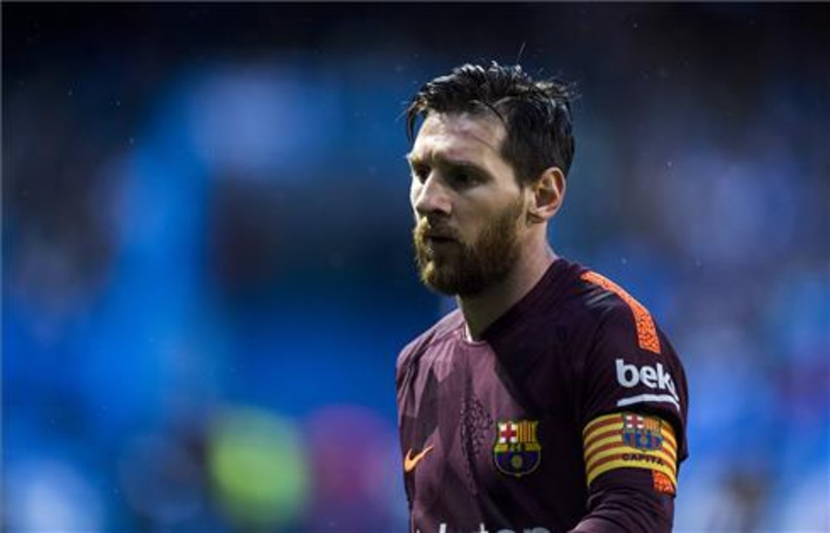 Leo Messi en uno de los partidos de esta temporada con el Barça.