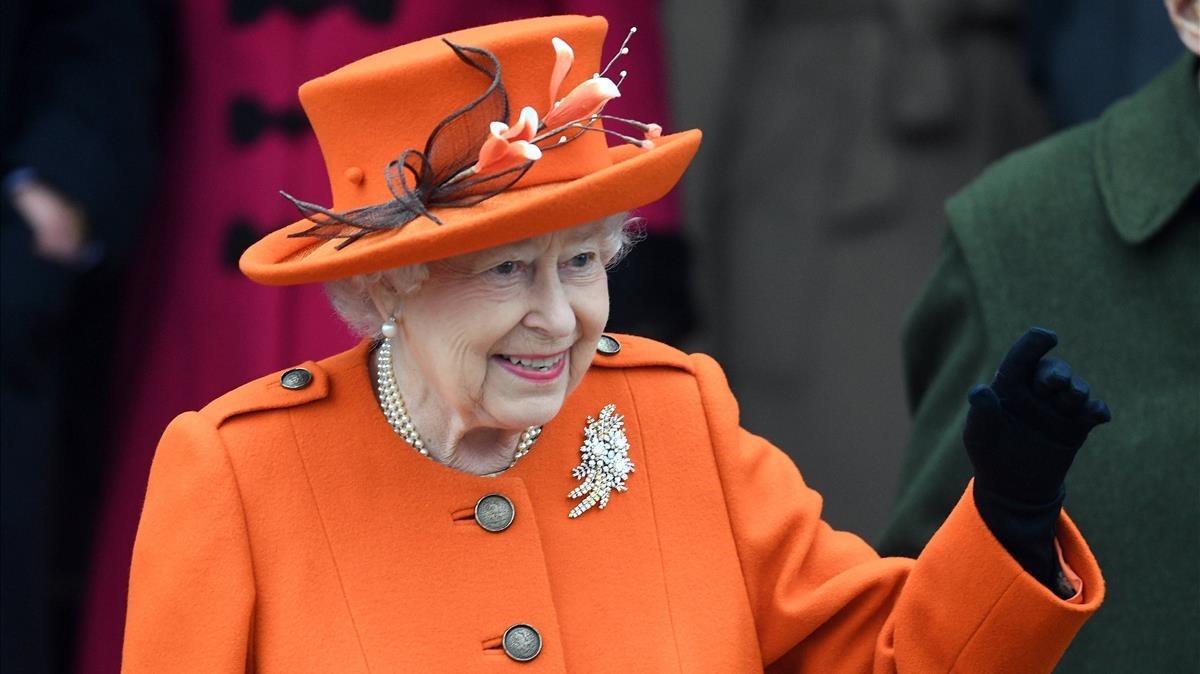 La reina Isabel II, el día de Navidad.
