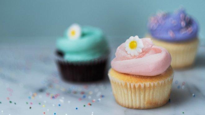 Los coloridos cupcakes de Magnolia Bakery.
