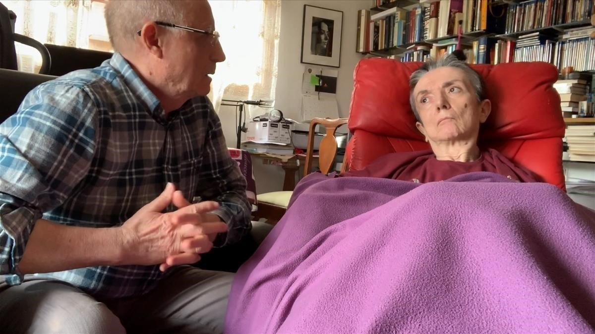 María José Carrasco y su marido,Ángel Hernández, que la ayudó a morirdignamente en el 2019.