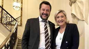Le Pen y Salvini escenifican la unión ultraderechista que quiere conquistar el Parlamento Europeo