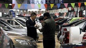 Concesionario de coches en Pekín.