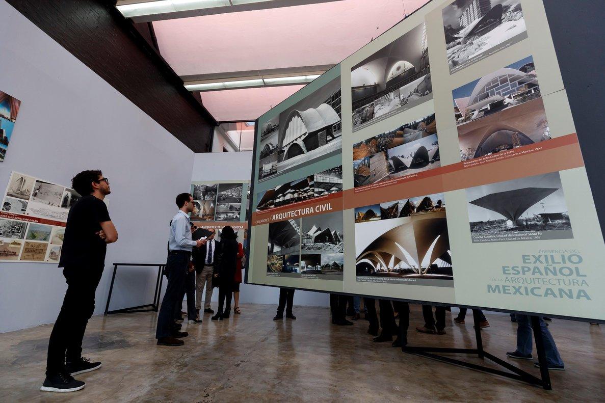 Exposición Presencia del exilio español en la arquitectura mexicana.