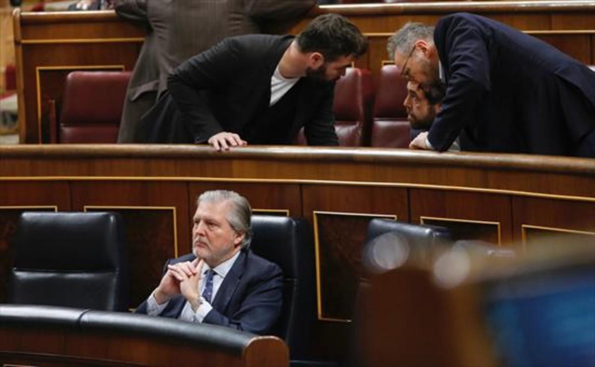 El ministro de Educación, Íñigo Méndez de Vigo, ayer en el Congreso.
