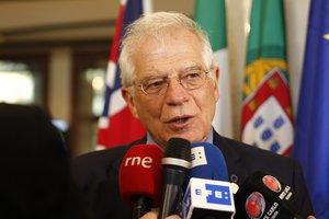El ministro de Exteriores, Josep Borrell, el 7 de febrero en Montevideo.