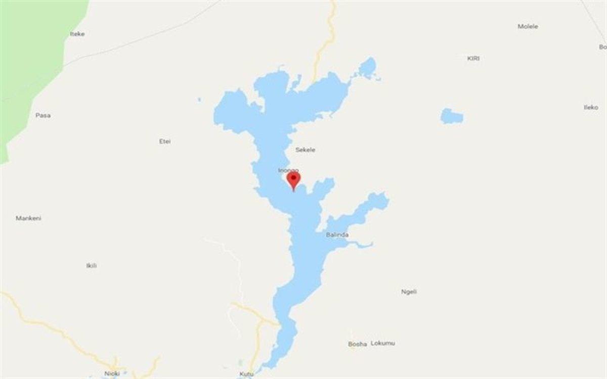 La zona del naufragio enel lago Mai-Ndombe, en laRepública Democrática del Congo.