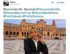 'Bienvenido Mr. Marshall', las burlas en las redes por la cancelación del viaje de Obama a Sevilla