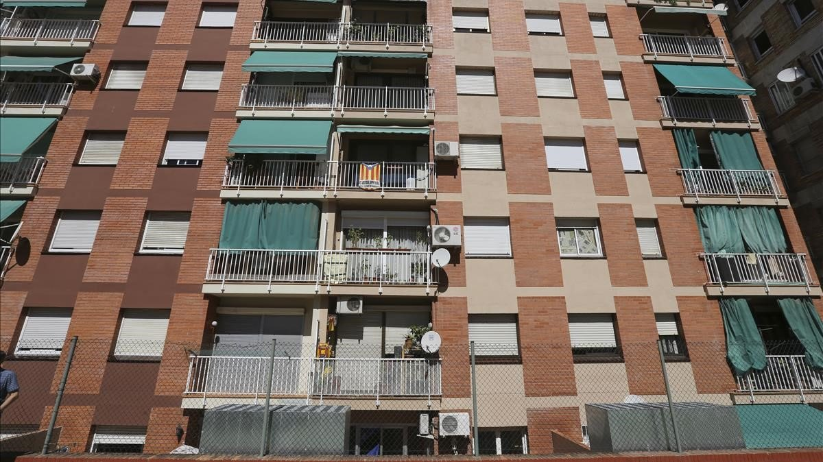 Imagen de una comunidad de viviendas en Barcelona.