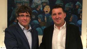 Otegi es reuneix amb Puigdemont a Waterloo