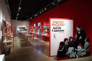 Aspecto dela exposición dedicada a Aureli Capmany desde la entrada.