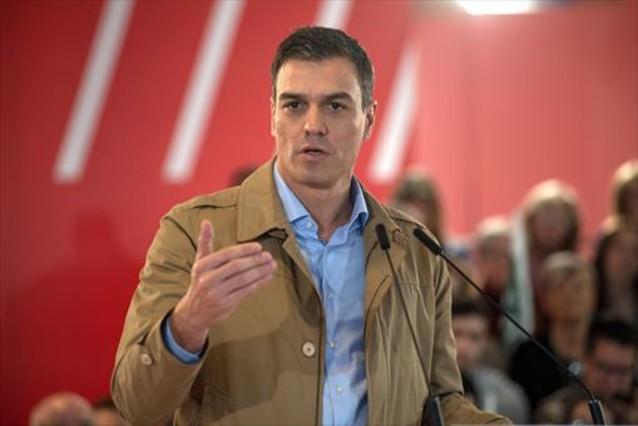 Pedro Sánchez, en un acto en Jaén, el domingo.