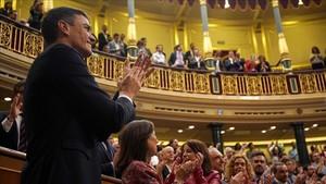 Pedro Sánchez, este viernes en el Congreso.