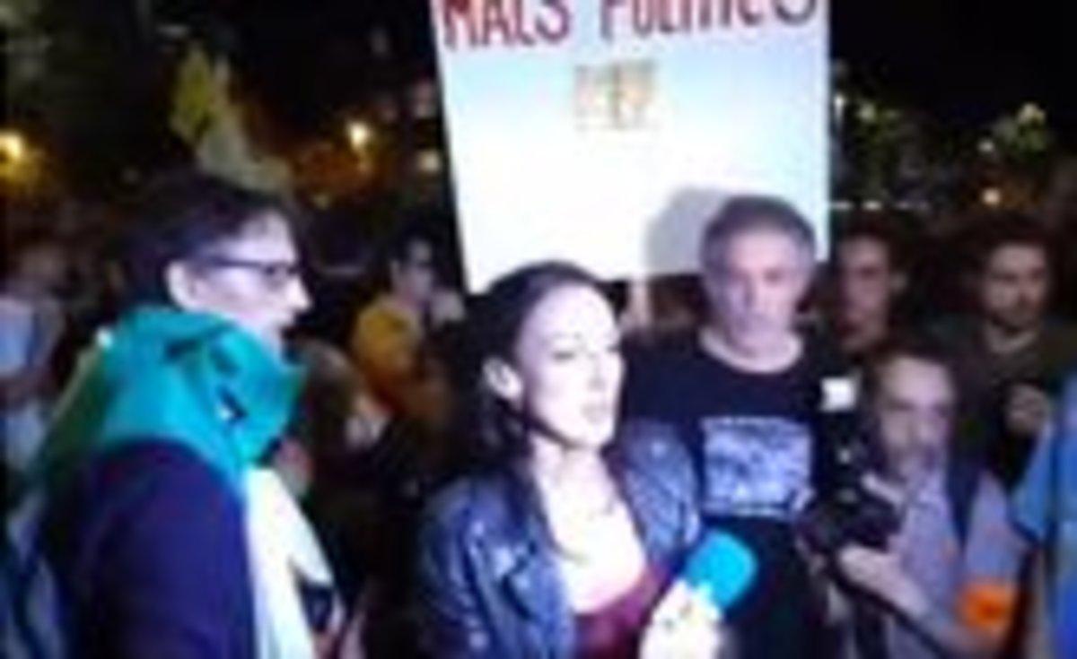La periodista de Tele 5, Laila Jiménez, agredida el 1 de octubre en Barcelona.