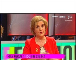Pilar Rahola en el programa de TV-3Tot es mou.