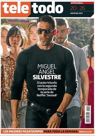 Portada del suplemento Teletodo protagonizada por el actor Miguel Ángel Silvestre en Sense8 (Netflix).