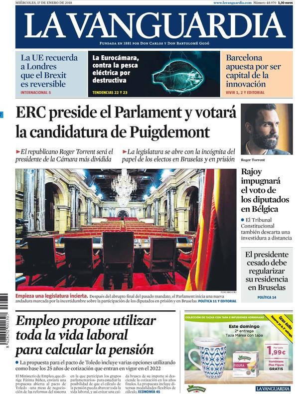 Puigdemont y Boadella comparten primeras páginas en Madrid