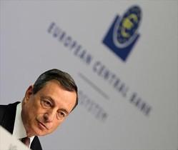 El presidente del BCE, Mario Draghi, ayer, Fráncfort.