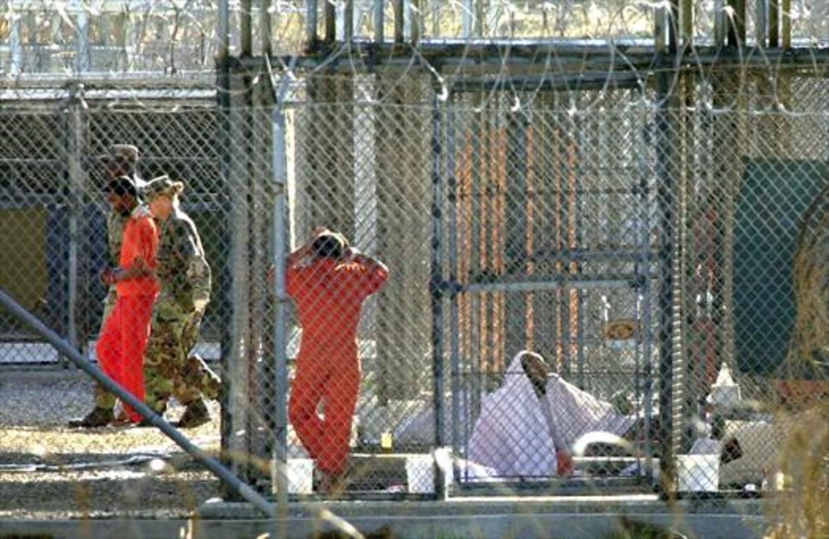 Presos en Guantánamo, en una imagen del 2002.