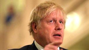 El primer ministro británico, Boris Johnson, este lunes en Belfast.
