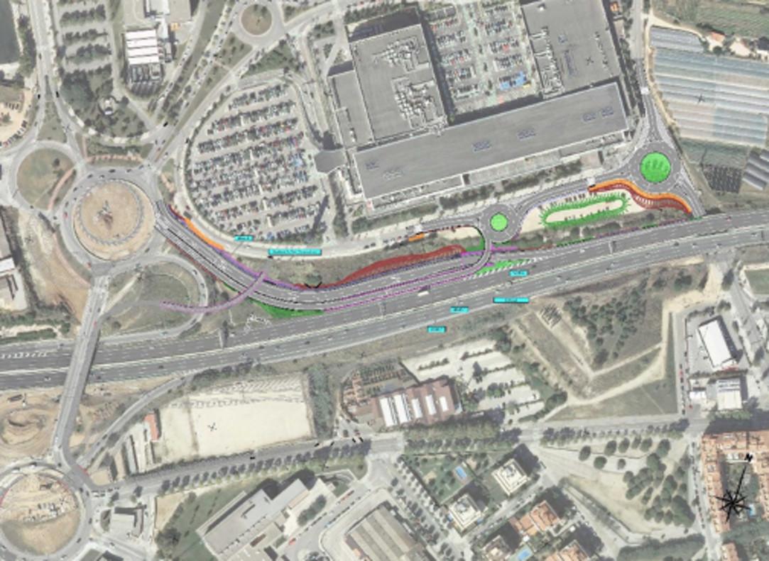 Proyecto de remodelación de la entrada Mataró Oeste C-32.