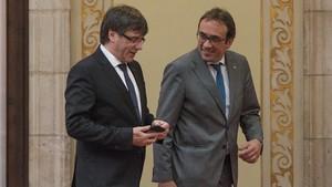 Puigdemont y Rull, el pasado julio, en Barcelona.