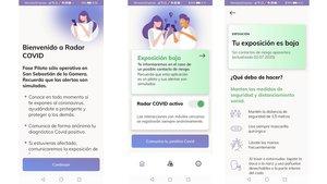 La 'app' de rastreo española 'Radar Covid'.