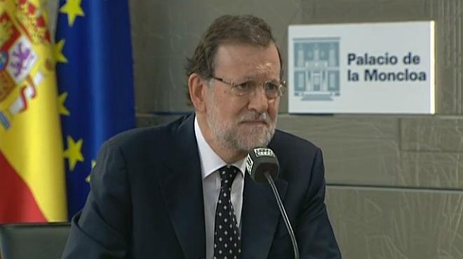 El president del Govern, Mariano Rajoy, en un moment de lentrevista.
