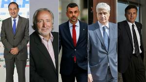 Ramon Espadaler, Antoni Fernández Teixidó, Santi Vila, Germà Gordó y Lluís Recoder.