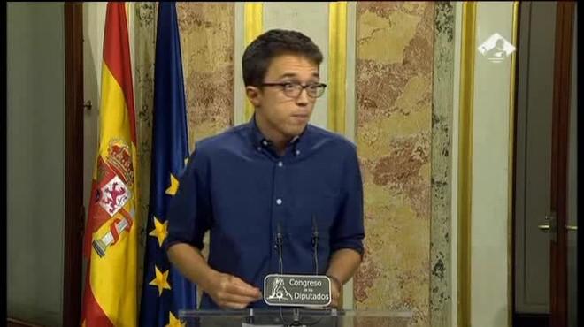 Reacción de Errejón ante el discurso de Rajoy
