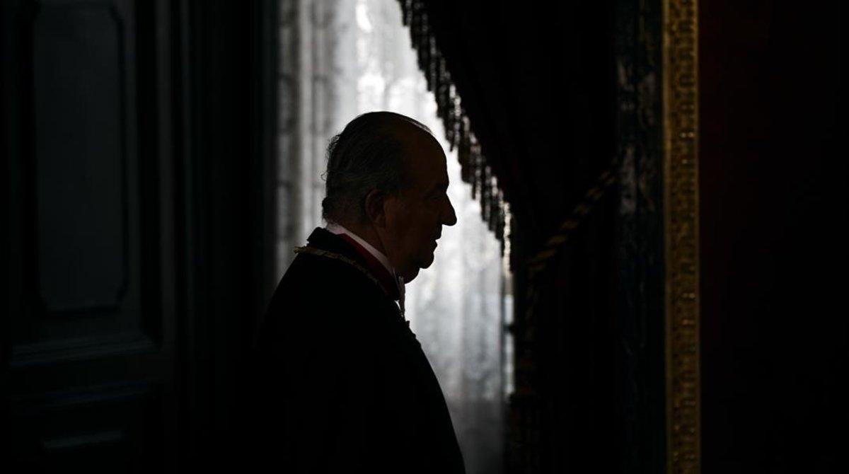El rey Juan Carlos, en el Palacio Real de Madrid.