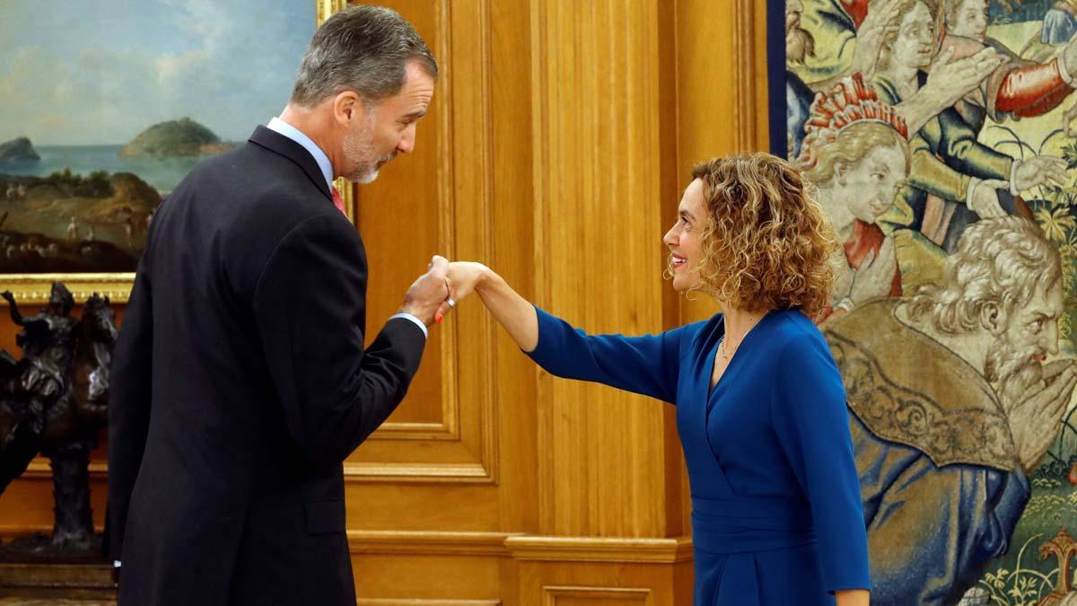 El Rey recibe a Meritxell Batet en el Palacio de la Zarzuela.