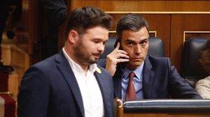 ERC pacta amb Sánchez abstenir-se en la votació de la pròrroga de l'alarma