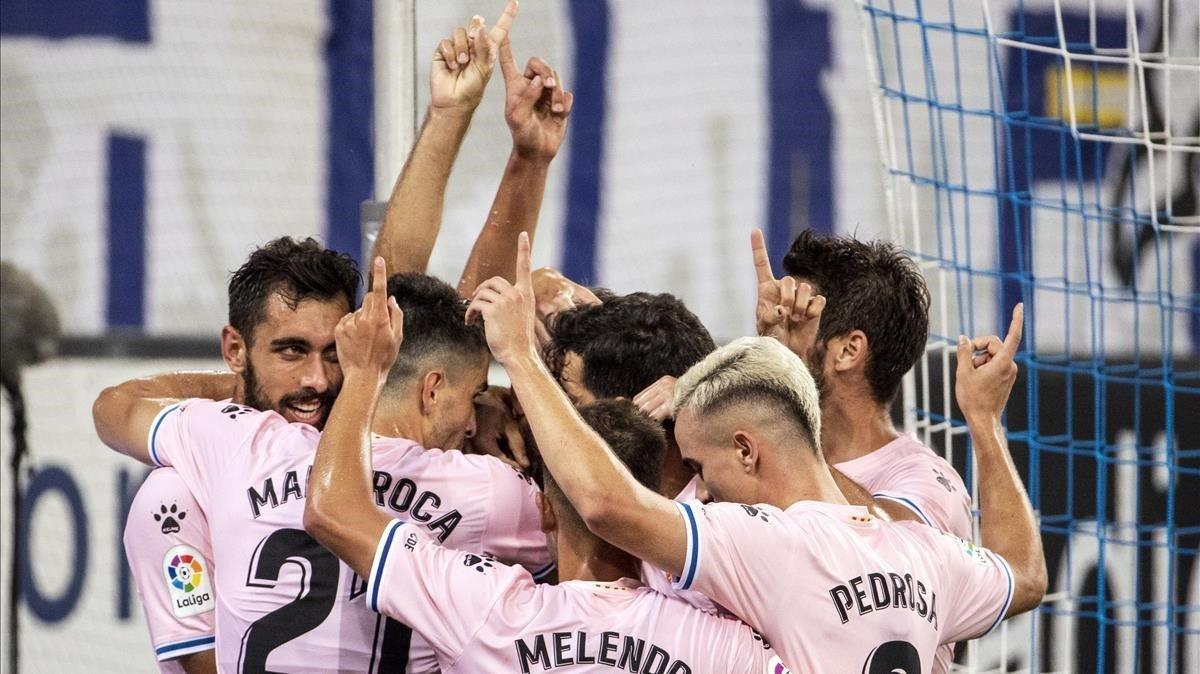 Los jugadores del Espanyol dedican un gol a Jarque en el décimo aniversario de su muerte.