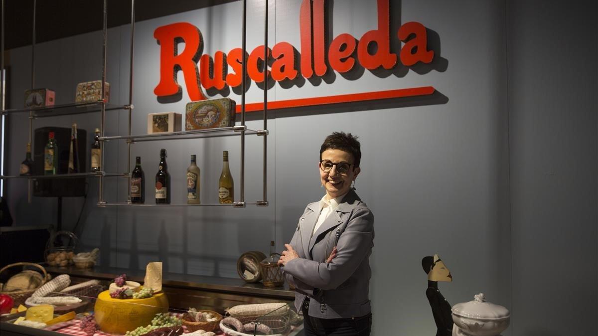 Recreación de la tienda de comestibles con la que empezó Carme Ruscalleda.