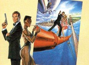 Cartel de 'Panorama para matar', uno de los filmes de James Bond donde aparecía una de las armas robadas.