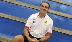 Sergio Scariolo, en la concentración de la selección en Madrid.
