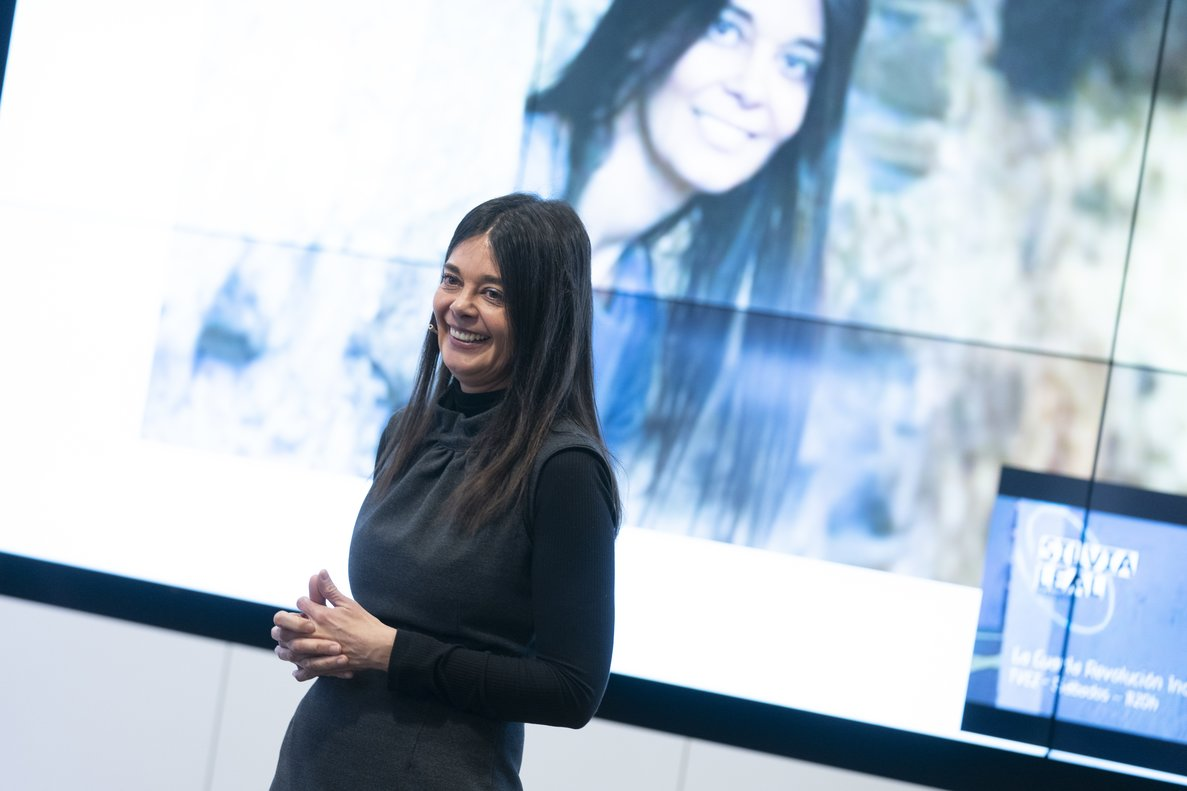Silvia Leal durante la jornada de Talento y Tecnología organizada por Human Age Institute by ManpowerGroup.