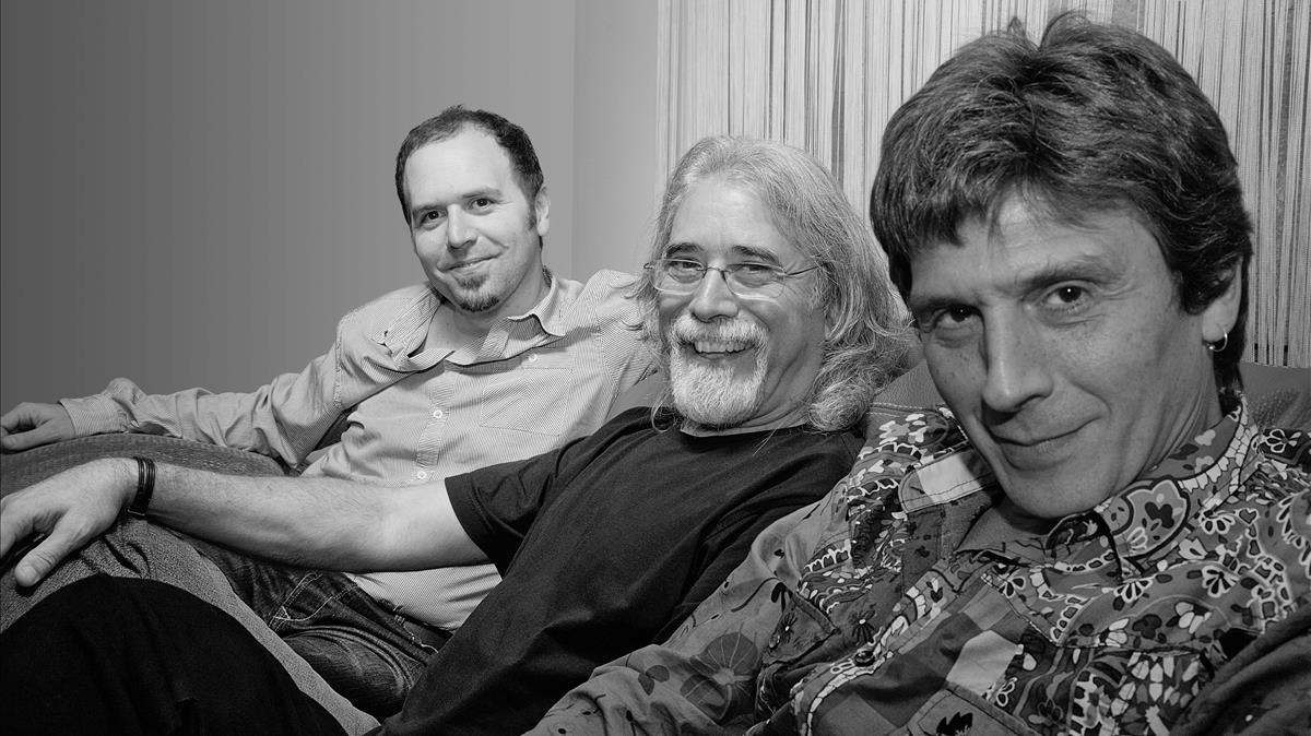 El trío de Carles Benavant, con Roger Blàvia en primer plano.