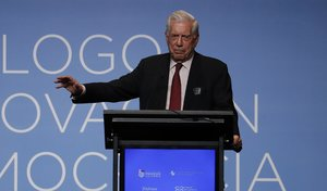 El escritor peruano y Nobel de literatura,Mario Vargas Llosa.