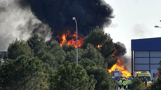 Vídeo del accidente del F-16 en Los Llanos.
