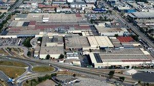 Vista aérea de la factoría de Nissan en la Zona Franca.