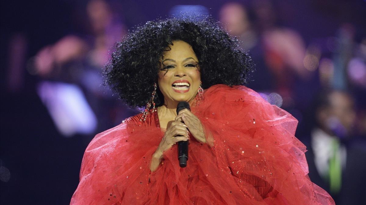 Diana Ross, en un espectáculo en Bélgica.